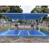 China Shopping Center 2 Or 3 Car Canopy Tent / Outdoor Shade Structures on sale