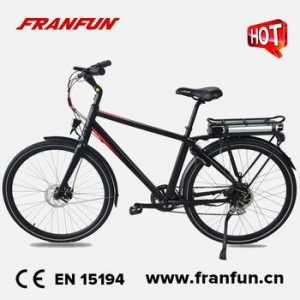 China FRANFUN vintage electric bike disc brakes Li-battery 250w bike road bicycle for men on sale
