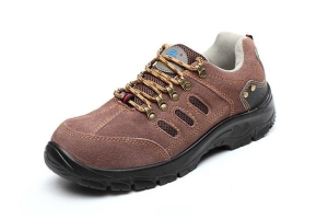 China Mens And Womens Brown ASTM Alloy Toe Steel Toe Athletic Static Dissipative Lightweight Safety Shoes on sale