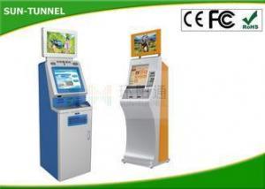China Free Standing Self Service Ticket Machine Passport / Fingerprint Reader , Bar - Code Scanner on sale