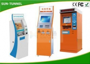 China Bill Dispense Coins To Cash Self Service Kiosk Machine , Currency Exchange Kiosk on sale