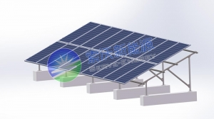 China STTS SFlat U - Hot-Dip Galvanized Steel Flat Roof PV Mounting System on sale