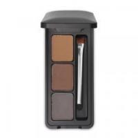 Waterproof Durable Tricolor Eyebrow Powder Light Brown Dark Brown Gray Brush Containing