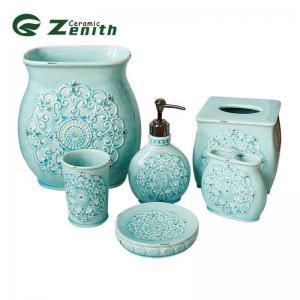 China 6pcs Ceramic Bathroom Accessory Set on sale