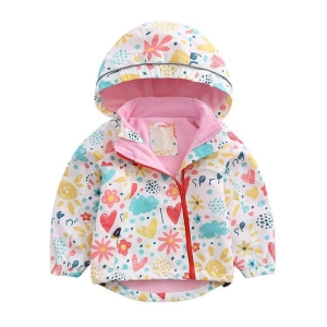 Quality Kids Wear Fashionable rain jacket with pull up zipper for sale