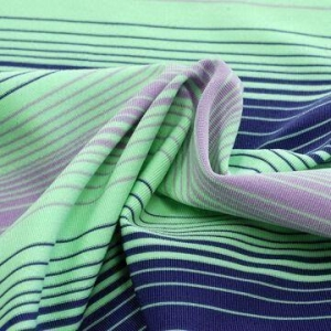China Finner Auto Stripe Jersey Fabric, Made of 91% Poly9% Lycra, with Permanent Wicking on sale