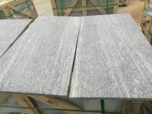 China Nero Santiago, G302 Wood Grain Grey Granite Paving Slab supplier