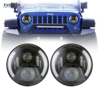 China FOR JEEP WRANGLER HALO LED HEADLIGHTS 1997-2018 SPLIT HALO PAIR on sale