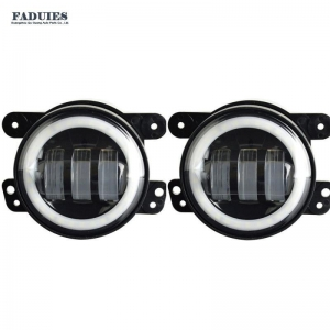 China FOR 07-17 JEEP WRANGLER JK 4 INCH LED HALO FOG LIGHTS on sale