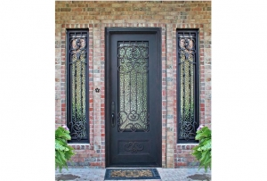 China Wrought Iron Door GD-002 on sale