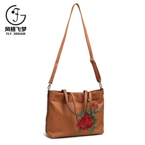 China Backpack, Handbags Ladies Embroidery Shoulder Hand Purse on sale