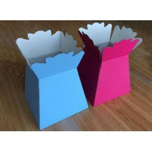 China Flower Packaging Colorful paper bouquet vase on sale