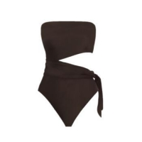 China online wholesale swimwear one piece swimsuit black off shoulder swimsuit on sale