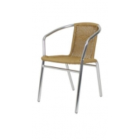 Outdoor / Patio Furniture Aluminum and Rattan Patio Chair