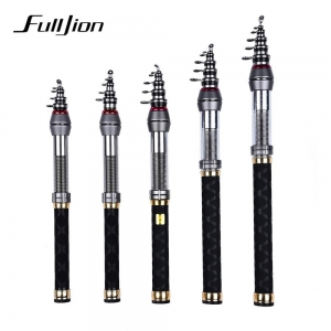 China Fulljion Mini Carbon Fiber Telescopic Carp Fishing Rods on sale