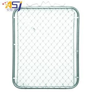 China PVC Coated Used Chain Link Fence Gate on sale