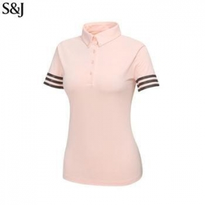China Dry Fit Striped women polo shirt women t shirt plain Custom Sweatshirt on sale