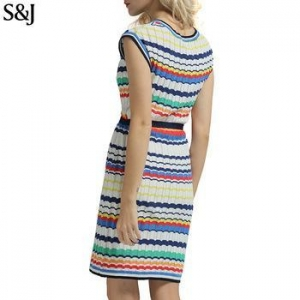 China Casual Dresses Autumn Knitted One Piece Dress Women on sale