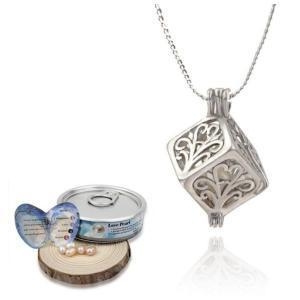 China Silver Plated Cube Shaped 6-7mm Pearl Cage Pendant on sale