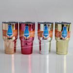 30oz./789ml D/W S.S vacuum mug w/1 color UV coating