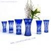 China personalized mouth blown engraved heavy crystal glass vase on sale