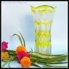 China best selling Japanese Edo Kiriko yellow glass flower vase on sale