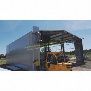 China Metal Storage Sheds and Galvanized Steel Framed Sheds Building Construction on sale