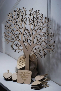 China Wishing Tree Small Wooden Guest Book wedding guest book tree on sale