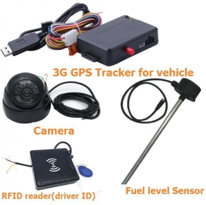 China GPS Tracker 3G vehicle gps tracker fuel level camera photo on sale