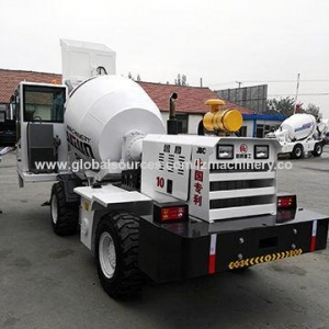 China Self propelled concrete mixer truck, 1.0 cubic meter articulated type on sale