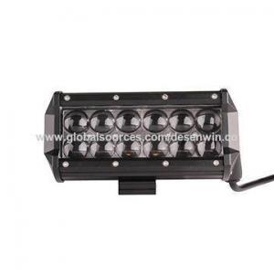 China 36W 12pcs x 3W ETI 3.8 Dual-row 4D Lens Reflective Cup Slider Bracket Screw Type LED Light Bar on sale