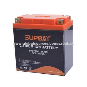 China 12V lithium motorcycle battery with different capacity on sale