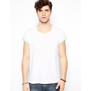 China Men's 100% Cotton Summer Plain White Round Neck T Shirt on sale