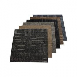 China Chinese Supplier 100% Solution Dyed Nylon Solid Color PVC Back Carpet Tiles on sale