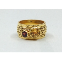 China Sterling 925 silver Citrine and garnet ring sterling 925 silver ring Product Code: SR220 on sale
