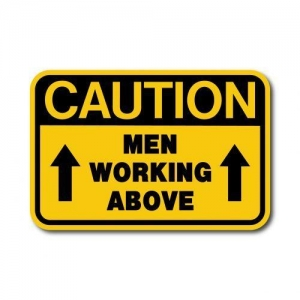 China Construction Signs IS-117 Caution - Men Working Above on sale