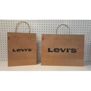 China personalized kraft paper shopping bags on sale