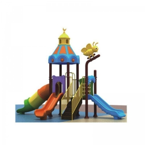 China HS-A138 Castle rooftop cute animals featured small playground equipment on sale