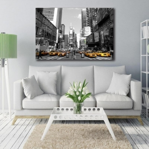 China New York City Canvas Painting Living Room Wall Art Poster Time Square on sale