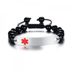 China Wholesale Beads Bracelet with Medical ID #BR-507 on sale