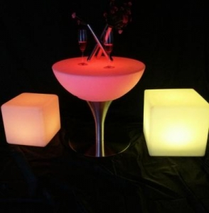 China 16 colors change High-quality LED Coffee Cocktail Table on sale