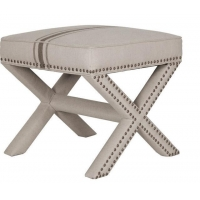 China Modern Living Room Furniture Bench Ottoman With Stainless Steel Legs on sale