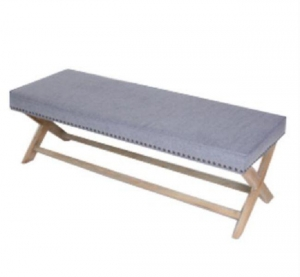 China Ottoman Stainless Legs Modern Furniture Bench on sale