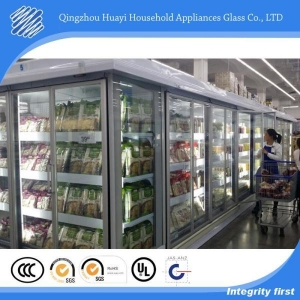 China Grey Glass Door for White Multi-Deck Fridge on sale