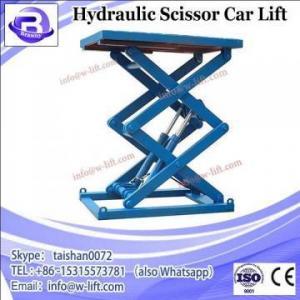 China CE Certified Jasonte double scissor car lift portable hydraulic scissor car lift on sale