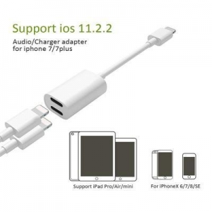 China 2 in 1 Multi-Function USB Charger Cable 3.5 adaptor for iPhone earphone adapter on sale