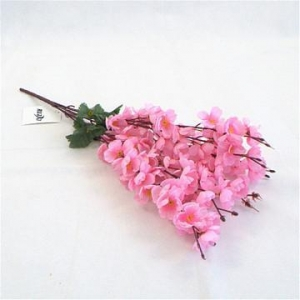 China Chinese Supplier Cheap Wholesale Artificial Silk Flowers Wedding Decoration Red Peach Blossom on sale