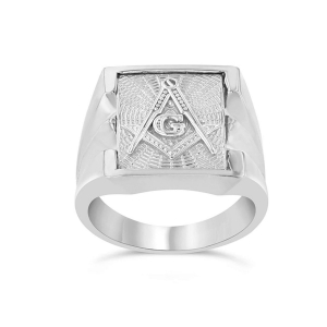 China 2018 Spring Cheap Mens Masonic Freemason Square & Compass Ring in Solid Sterling Silver 82024 on sale