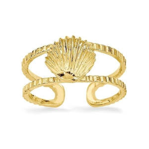 China 2018 Online Store Roy Rose Jewelry 14K Yellow Gold Sea Shell Toe Ring 05832 on sale