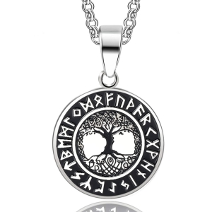 China 2018 Spring Cheap H - Amulet Pendant Necklace The Tree of Life Runes Nordic Talisman Jewelry 66543 on sale